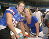 080817_WilsonPaul_5256_TCasey<br /> <br /> photo by Tim Casey<br /> <br /> during the University of Florida football team's Alltel Football Fan Day on Sunday, August 17, 2008 at the Stephen C. O'Connell Center in Gainesville, Fla.