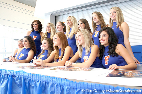 080817_Dazzlers_5092_TCasey<br /> <br /> photo by Tim Casey<br /> <br /> during the University of Florida football team's Alltel Football Fan Day on Sunday, August 17, 2008 at the Stephen C. O'Connell Center in Gainesville, Fla.