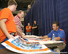 080817_MeyerUrban_5229_TCasey<br /> <br /> photo by Tim Casey<br /> <br /> during the University of Florida football team's Alltel Football Fan Day on Sunday, August 17, 2008 at the Stephen C. O'Connell Center in Gainesville, Fla.