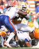 photo by Tim Casey<br /> <br /> Florida junior linebacker Brandon Spikes tackles Montario Hardesty during the first half of the Gators' game against the Tennessee Volunteers on Saturday, September 20, 2008 at Neyland Stadium in Knoxville, Tenn.