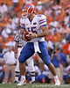 photo by Tim Casey<br /> <br /> Florida junior quarterback Tim Tebow looks to hand off to Chris Rainey during the second half of the Gators' 30-6 win against the Tennessee Volunteers on Saturday, September 20, 2008 at Neyland Stadium in Knoxville, Tenn.
