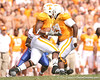 photo by Tim Casey<br /> <br /> Brandon Warren returns a kickoff 18 yards to the 39-yard line during the first half of the Gators' game against the Tennessee Volunteers on Saturday, September 20, 2008 at Neyland Stadium in Knoxville, Tenn.