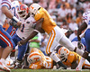 photo by Tim Casey<br /> <br /> Florida junior wide receiver/running back Percy Harvin gets tackled by Eric Berry on a four-yard run during the second half of the Gators' 30-6 win against the Tennessee Volunteers on Saturday, September 20, 2008 at Neyland Stadium in Knoxville, Tenn.