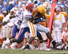 photo by Tim Casey<br /> <br /> Florida junior cornerback Markihe Anderon tackles Gerald Jones after a three-yard reception during the second half of the Gators' 30-6 win against the Tennessee Volunteers on Saturday, September 20, 2008 at Neyland Stadium in Knoxville, Tenn.