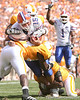 photo by Tim Casey<br /> <br /> Florida junior quarterback Tim Tebow runs for a three-yard gain  to the two-yard line during the first half of the Gators' game against the Tennessee Volunteers on Saturday, September 20, 2008 at Neyland Stadium in Knoxville, Tenn.
