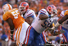 photo by Tim Casey<br /> <br /> Maurkice Pouncey and Mike Pouncey block in opposite directions during the second half of the Gators' 30-6 win against the Tennessee Volunteers on Saturday, September 20, 2008 at Neyland Stadium in Knoxville, Tenn.