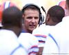 photo by Tim Casey<br /> <br /> Florida head coach Urban Meyer talks to Carlos Dunlap during the first half of the Gators' game against the Tennessee Volunteers on Saturday, September 20, 2008 at Neyland Stadium in Knoxville, Tenn.