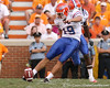 photo by Tim Casey<br /> <br /> Florida freshman kicker Caleb Sturgis kicks off during the second half of the Gators' 30-6 win against the Tennessee Volunteers on Saturday, September 20, 2008 at Neyland Stadium in Knoxville, Tenn.