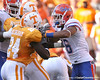 photo by Tim Casey<br /> <br /> Florida junior wide receiver Carl Moore shoves DeAngelo Willingham during the first half of the Gators' game against the Tennessee Volunteers on Saturday, September 20, 2008 at Neyland Stadium in Knoxville, Tenn.