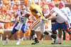 photo by Tim Casey<br /> <br /> Florida junior quarterback Tim Tebow throws a 13-yard pass to Aaron Hernandez during the first half of the Gators' game against the Tennessee Volunteers on Saturday, September 20, 2008 at Neyland Stadium in Knoxville, Tenn.