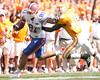 photo by Tim Casey<br /> <br /> Florida sophomore tight end Aaron Hernandez for for a 13-yard gain after making a reception from Tim Tebow during the first half of the Gators' game against the Tennessee Volunteers on Saturday, September 20, 2008 at Neyland Stadium in Knoxville, Tenn.