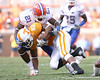 photo by Tim Casey<br /> <br /> Florida sophomore safety Major Wright tackles Arian foster during the first half of the Gators' game against the Tennessee Volunteers on Saturday, September 20, 2008 at Neyland Stadium in Knoxville, Tenn.