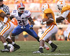 photo by Tim Casey<br /> <br /> Florida sophomore safety Major Wright prepares to tackle Gerald Jones during the first half of the Gators' game against the Tennessee Volunteers on Saturday, September 20, 2008 at Neyland Stadium in Knoxville, Tenn.