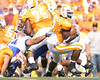 photo by Tim Casey<br /> <br /> Florida sophomore defensive end Justin Trattou grabs Montario Hardesty during the first half of the Gators' game against the Tennessee Volunteers on Saturday, September 20, 2008 at Neyland Stadium in Knoxville, Tenn.