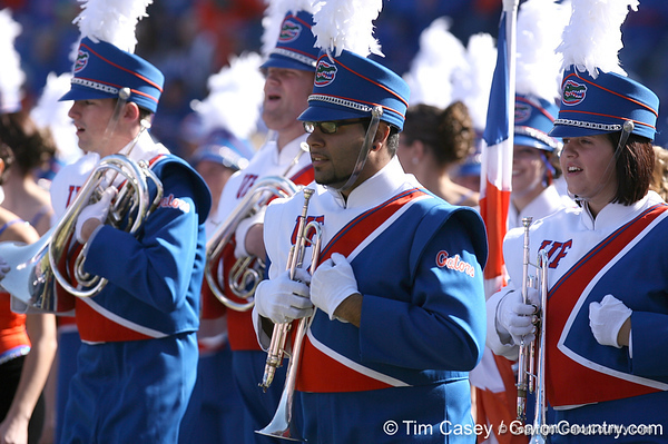 photo by Tim Casey<br /> <br /> The Florida marching band performs before the Gators' 70-19 win against The Citadel Bulldogs on Saturday, November 22, 2008 at Ben Hill Griffin Stadium in Gainesville, Fla. UF led 49-6 at halftime.