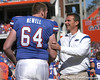 photo by Tim Casey<br /> <br /> Florida senior offensive lineman Kyle Newell and Florida head coach Urban Meyer participate in the Senior Day ceremony before the Gators' 70-19 win against The Citadel Bulldogs on Saturday, November 22, 2008 at Ben Hill Griffin Stadium in Gainesville, Fla. UF led 49-6 at halftime.