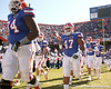 photo by Tim Casey<br /> <br /> Florida redshirt sophomore defensive tackle Brandon Antwine takes the field before the Gators' 70-19 win against The Citadel Bulldogs on Saturday, November 22, 2008 at Ben Hill Griffin Stadium in Gainesville, Fla. UF led 49-6 at halftime.