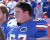 photo by Tim Casey<br /> <br /> Florida freshman offensive lineman Jess Williams watches from the sideline before the Gators' 70-19 win against The Citadel Bulldogs on Saturday, November 22, 2008 at Ben Hill Griffin Stadium in Gainesville, Fla. UF led 49-6 at halftime.