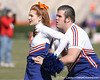 photo by Tim Casey<br /> <br /> Florida cheerleaders perform before the Gators' 70-19 win against The Citadel Bulldogs on Saturday, November 22, 2008 at Ben Hill Griffin Stadium in Gainesville, Fla. UF led 49-6 at halftime.