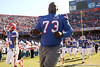 photo by Tim Casey<br /> <br /> Florida freshman Byran Jones takes the field before the Gators' 70-19 win against The Citadel Bulldogs on Saturday, November 22, 2008 at Ben Hill Griffin Stadium in Gainesville, Fla. UF led 49-6 at halftime.