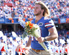 photo by Tim Casey<br /> <br /> Andrew Johnson participates in the Senior Day ceremony before the Gators' 70-19 win against The Citadel Bulldogs on Saturday, November 22, 2008 at Ben Hill Griffin Stadium in Gainesville, Fla. UF led 49-6 at halftime.