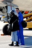 (Casey Brooke Lawson / Gator Country) UF quarterback Tim Tebow walks with Ahmad Black after landing at the Gainesville Regional Airport in Gainesville, Fla., on January 9, 2009.