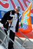 (Casey Brooke Lawson / Gator Country) Brandon Antwine and the University of Florida football team returns from Miami, after winning the 2008 BCS National Championship, to the Gainesville Regional Airport in Gainesville, Fla., on January 9, 2009.