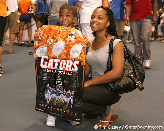 during the Gators' annual preseason fan day on Sunday, August 16, 2009 at the Stephen C. O'Connell Center in Gainesville, Fla. / Gator Country photo by Tim Casey