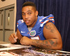 Florida redshirt junior defensive tackle Brandon Antwine signs autographs during the Gators' annual preseason fan day on Sunday, August 16, 2009 at the Stephen C. O'Connell Center in Gainesville, Fla. / Gator Country photo by Tim Casey