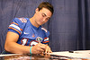 Florida redshirt sophomore quarterback John Brantley signs autographs during the Gators' annual preseason fan day on Sunday, August 16, 2009 at the Stephen C. O'Connell Center in Gainesville, Fla. / Gator Country photo by Tim Casey