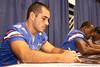 Florida senior fullback Rick Burgess signs autographs during the Gators' annual preseason fan day on Sunday, August 16, 2009 at the Stephen C. O'Connell Center in Gainesville, Fla. / Gator Country photo by Tim Casey