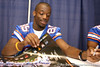 Florida redshirt freshman wide receiver Frankie Hammond, Jr. signs autographs during the Gators' annual preseason fan day on Sunday, August 16, 2009 at the Stephen C. O'Connell Center in Gainesville, Fla. / Gator Country photo by Tim Casey