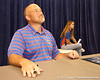 Florida offensive coordinator/ offensive line coach Steve Addazio talks to fans during the Gators' annual preseason fan day on Sunday, August 16, 2009 at the Stephen C. O'Connell Center in Gainesville, Fla. / Gator Country photo by Tim Casey