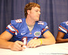 Florida redshirt junior quarterback Andrew Blaylock signs autographs during the Gators' annual preseason fan day on Sunday, August 16, 2009 at the Stephen C. O'Connell Center in Gainesville, Fla. / Gator Country photo by Tim Casey