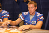 Florida sophomore kicker Caleb Sturgis signs autographs during the Gators' annual preseason fan day on Sunday, August 16, 2009 at the Stephen C. O'Connell Center in Gainesville, Fla. / Gator Country photo by Tim Casey