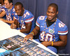 Florida junior linebacker Brandon Hicks signs autographs during the Gators' annual preseason fan day on Sunday, August 16, 2009 at the Stephen C. O'Connell Center in Gainesville, Fla. / Gator Country photo by Tim Casey