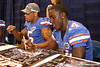 Florida senior cornerback Markihe Anderson signs autographs during the Gators' annual preseason fan day on Sunday, August 16, 2009 at the Stephen C. O'Connell Center in Gainesville, Fla. / Gator Country photo by Tim Casey