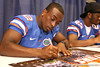 Florida sophomore running back Jeff Demps signs autographs during the Gators' annual preseason fan day on Sunday, August 16, 2009 at the Stephen C. O'Connell Center in Gainesville, Fla. / Gator Country photo by Tim Casey