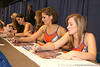 Florida Gatorettes sign autographs during the Gators' annual preseason fan day on Sunday, August 16, 2009 at the Stephen C. O'Connell Center in Gainesville, Fla. / Gator Country photo by Tim Casey