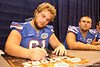 Florida redshirt junior offensive lineman Gary Beemer signs autographs during the Gators' annual preseason fan day on Sunday, August 16, 2009 at the Stephen C. O'Connell Center in Gainesville, Fla. / Gator Country photo by Tim Casey