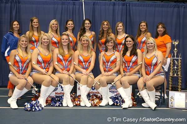 Florida Gatorettes pose for a photo during the Gators' annual preseason fan day on Sunday, August 16, 2009 at the Stephen C. O'Connell Center in Gainesville, Fla. / Gator Country photo by Tim Casey