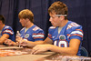 Florida redshirt freshman punter David Lerner signs autographs during the Gators' annual preseason fan day on Sunday, August 16, 2009 at the Stephen C. O'Connell Center in Gainesville, Fla. / Gator Country photo by Tim Casey