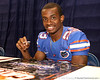 Florida redshirt sophomore defensive back Corey Henderson signs autographs during the Gators' annual preseason fan day on Sunday, August 16, 2009 at the Stephen C. O'Connell Center in Gainesville, Fla. / Gator Country photo by Tim Casey