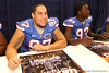 Florida junior defensive tackle Edwin Herbert signs autographs during the Gators' annual preseason fan day on Sunday, August 16, 2009 at the Stephen C. O'Connell Center in Gainesville, Fla. / Gator Country photo by Tim Casey