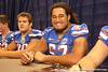 Florida freshman offensive lineman Jon Halapio signs autographs during the Gators' annual preseason fan day on Sunday, August 16, 2009 at the Stephen C. O'Connell Center in Gainesville, Fla. / Gator Country photo by Tim Casey