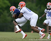 photo by Tim Casey<br /> <br /> Jonathan Bostic works out during the Gators' second day of spring football practice on Friday, March 27, 2009 at the Sanders football practice fields in Gainesville, Fla.