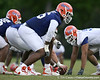 photo by Tim Casey<br /> <br /> Marcus Gilbert lines up during the Gators' second day of spring football practice on Friday, March 27, 2009 at the Sanders football practice fields in Gainesville, Fla.