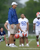photo by Tim Casey<br /> <br /> Urban Meyer looks on during the Gators' second day of spring football practice on Friday, March 27, 2009 at the Sanders football practice fields in Gainesville, Fla.
