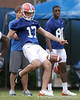 photo by Tim Casey<br /> <br /> Chas Henry punts the ball during the Gators' second day of spring football practice on Friday, March 27, 2009 at the Sanders football practice fields in Gainesville, Fla.