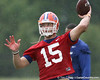 photo by Tim Casey<br /> <br /> Tim Tebow passes during the Gators' second day of spring football practice on Friday, March 27, 2009 at the Sanders football practice fields in Gainesville, Fla.